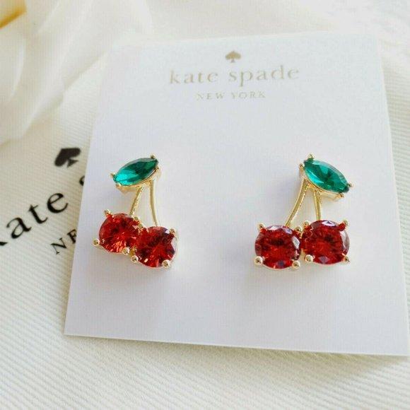 KATE SPADE Ma Cherie Crystal Cherry Earrings